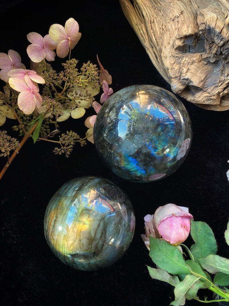 Labradorite Crystal Sphere - Med - XL Scrying Balls