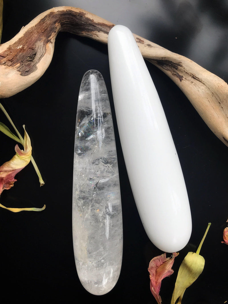 Clear Quartz Intimate Massage Wand - Keven Craft Rituals