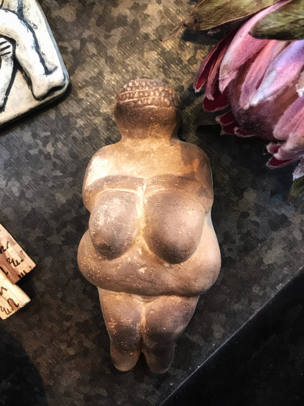 Venus of Willendorf Goddess - Wall or Altar Plaque
