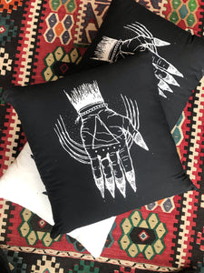 "Hand of the Occult - Throw Pillow Cover (Cotton) 20"" x 20"""