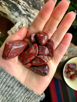 Polished Brecciated, Red Oregon Jasper - Keven Craft Rituals