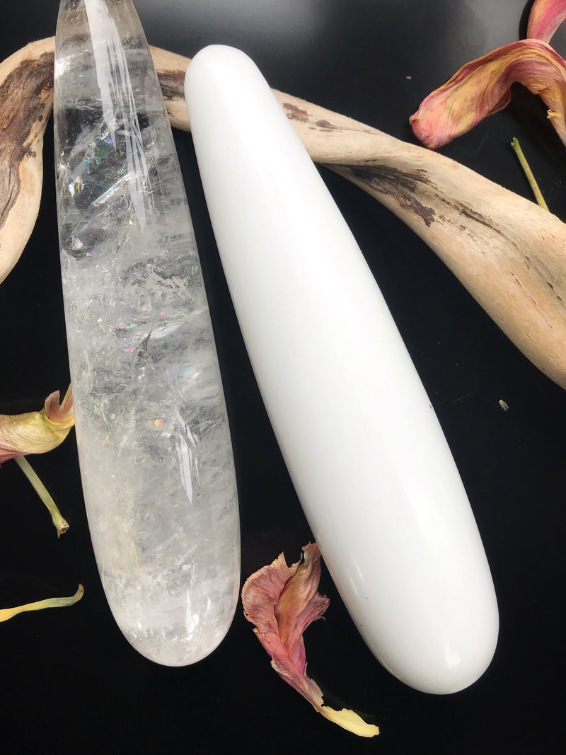 White Jade Intimate Massage Wand - Keven Craft Rituals