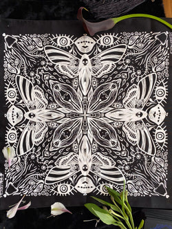 Tarot Cloth / Bandana - Phrenetic Phallus - Keven Craft Rituals