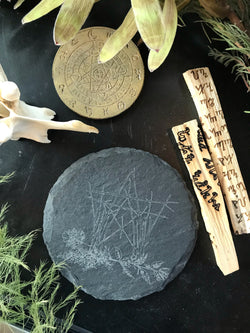 Etched Slate Coaster - Keven Craft Rituals
