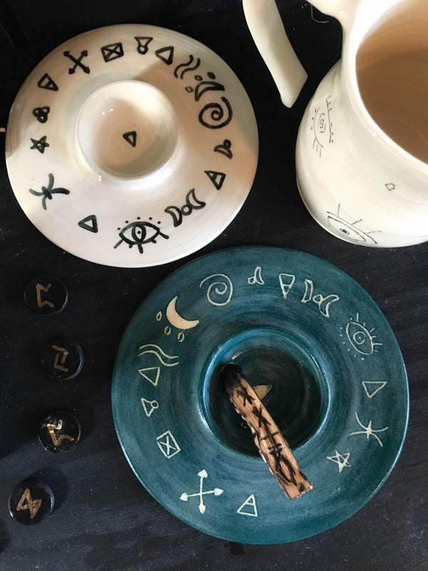 Witches Symbols Offering Bowl - Keven Craft Rituals