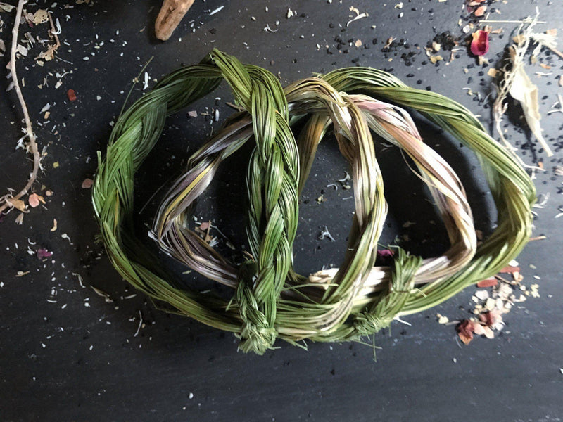 "Braided Sweetgrass 24"" - Bundle - Keven Craft Rituals"