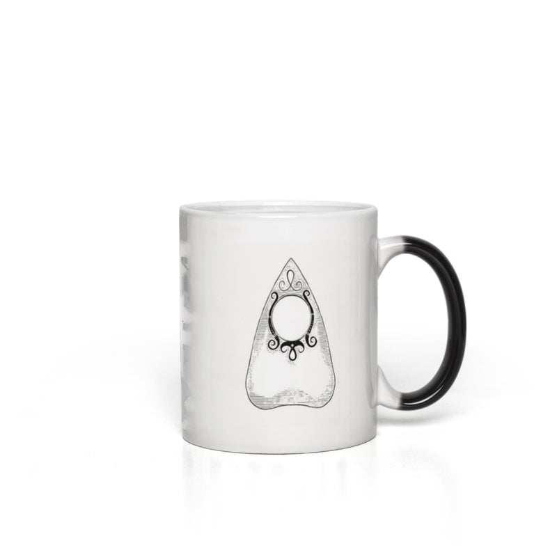 Planchette Divination Mug - Changes from Black to White