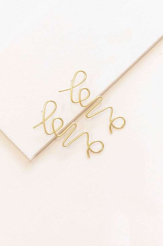 In the Name of Love Earrings (14K)