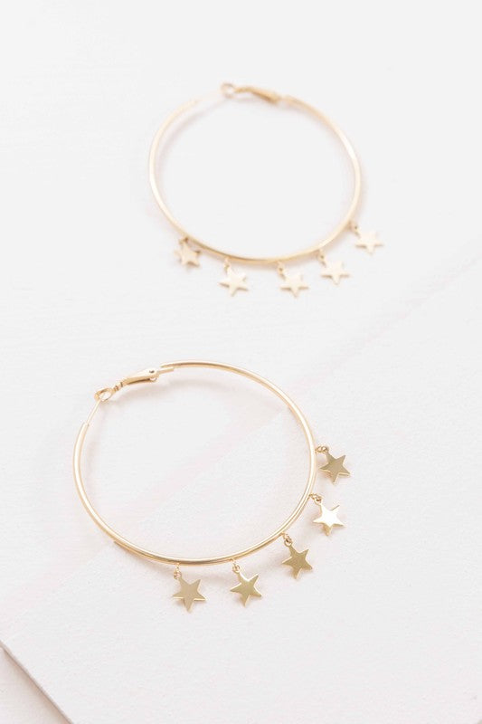 Night Dreamer Hoop Earrings (14K)