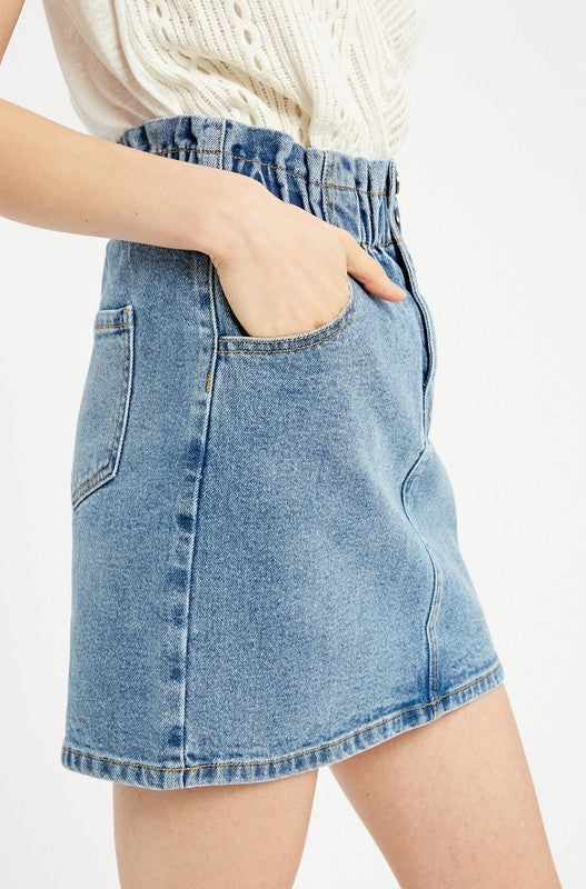 Leah Denim Skirt