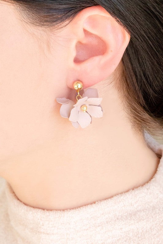 Floral Stud and Drop Earrings