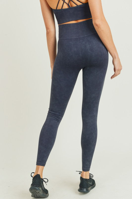 Chevron Side Mineral Wash Seamless Leggings