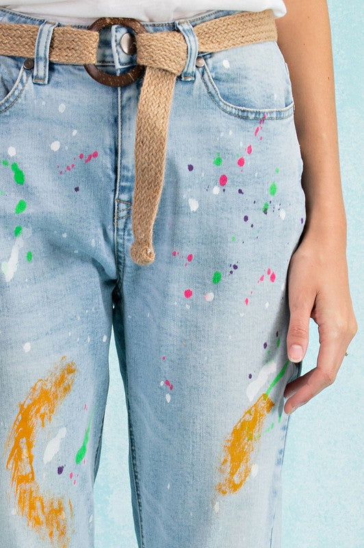 Paint Stained Denim