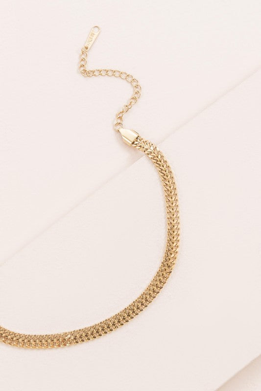 Curb Chain Anklet | Gold