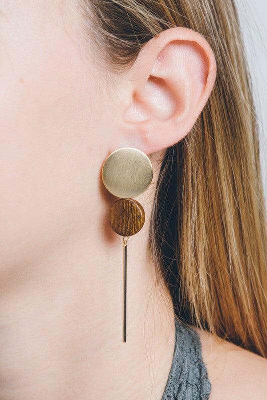 Cypress Drop Wood Earrings