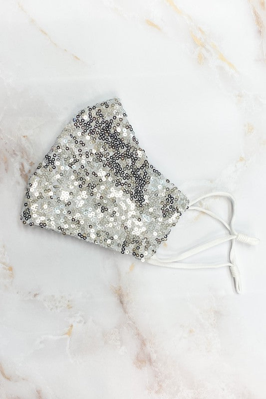 Silver Double Layer Sparkle Mask