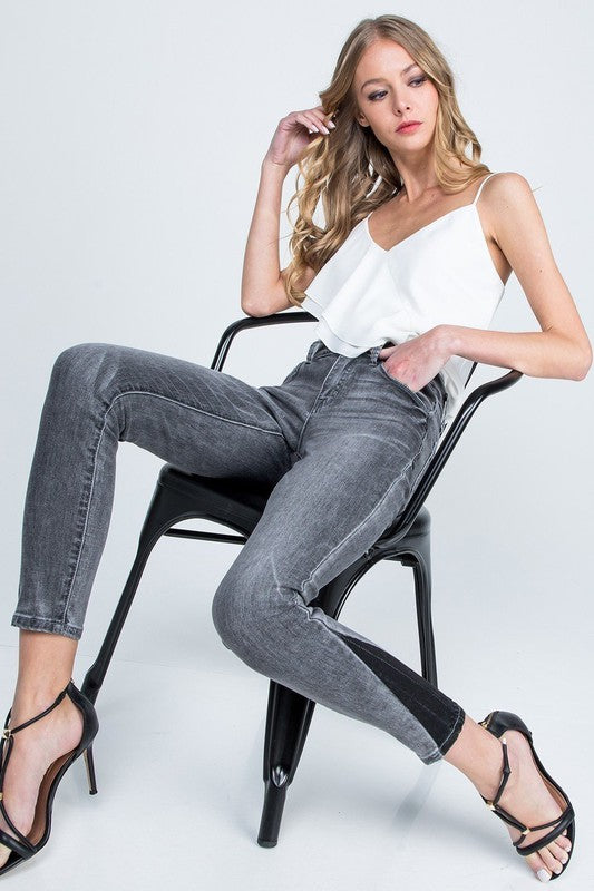Grey Two-Tone Skinny