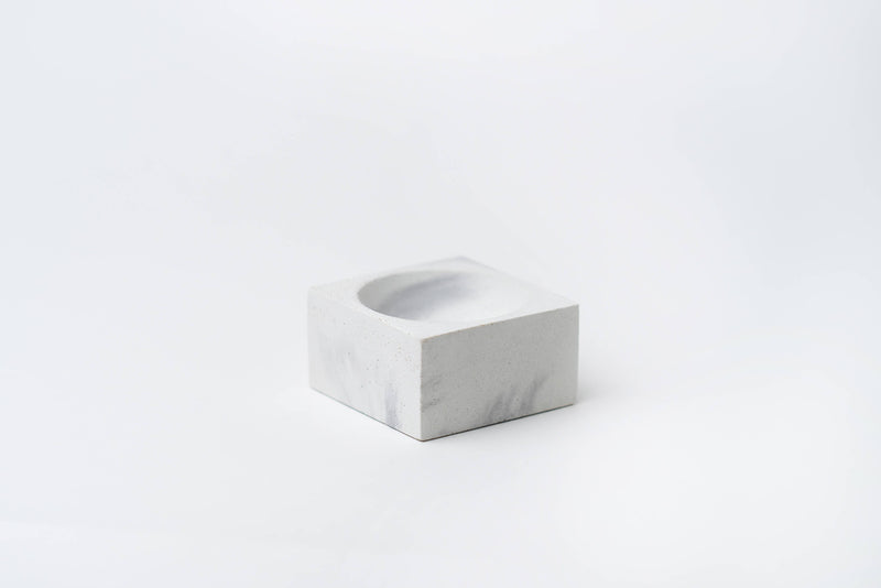 Incense Holder (Square) - Marbled Concrete