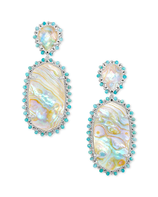 Parsons Earring Bright Silver/ Iridescent Abalone