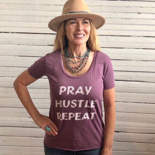 TS Tshirt Pray Hustle Repeat 24