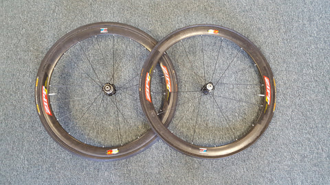 Zipp 303 Carbon Tubular 650c wheels with American Classic Hubs, 10sp
