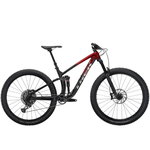 TREK FUEL EX 8 GX, MSRP $4699.99, 2021, Rage Red to Dnister Black Fade, ETA OCTOBER<p>DEPOSIT $2000