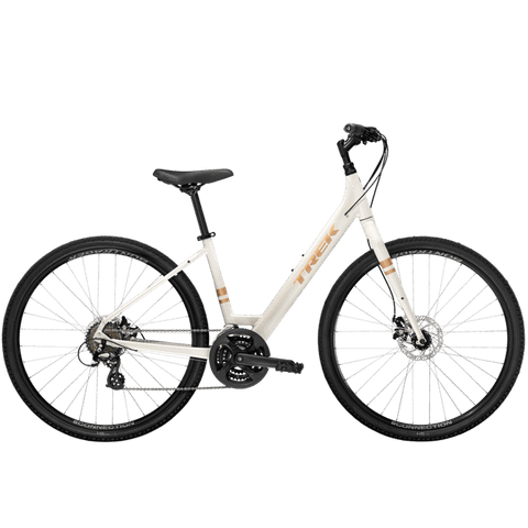 Trek Verve 1 Disc Lowstep, MSRP $679.99, 2021,Era White, ETA APRIL 26<P>Deposit $200