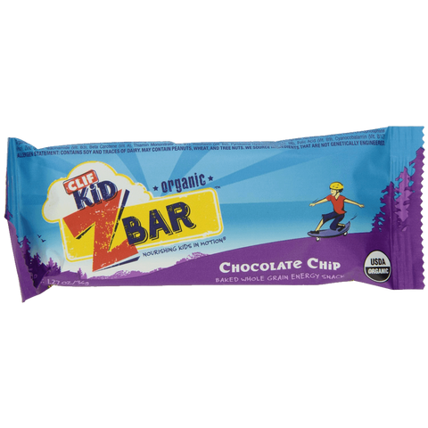 Clif Kid Organic ZBar Organic Chocolate Chip 18 Count