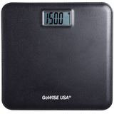 GoWISE USA GW22035 Electronic Personal Digital Scale w- Step-On Techonology & Wide Platform & LCD Display 400LB Capacity Black