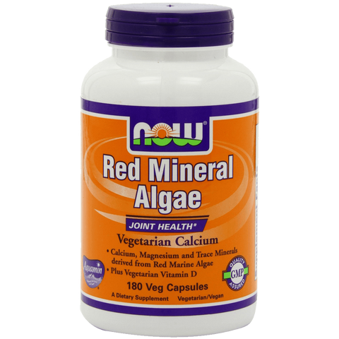 Now Foods Red Mineral Algae aquamin Veg-Capsules 180-Count