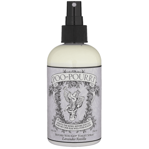 Poo-Pourri Preventive Bathroom Odor Spray 2-Piece Set Includes 2-Ounce and 4-Ounce Bottle Lavender Vanilla