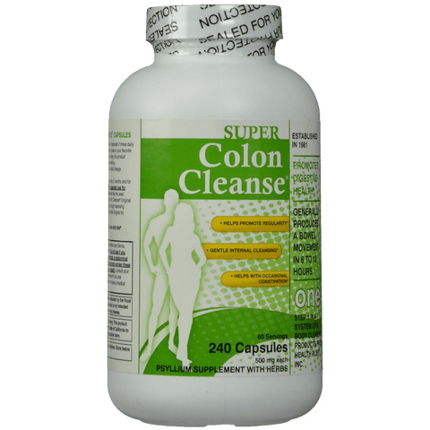 Super Colon Cleanse 500mg 240 capsules