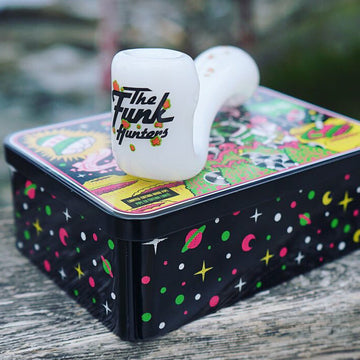 Limited Edition TFH Glass Pipe and Tin