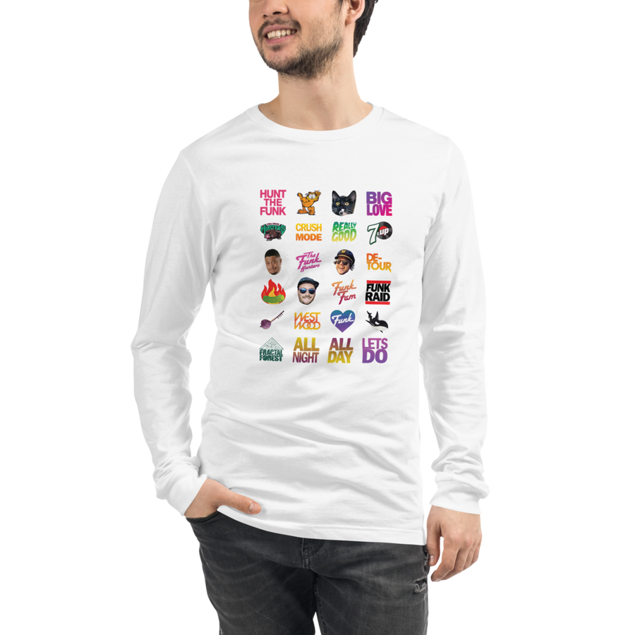 Twitch Fam Long Sleeve Tee on White