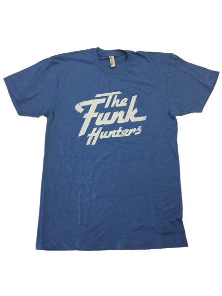 Distressed Solid Logo T-shirt - Heather Lake Blue