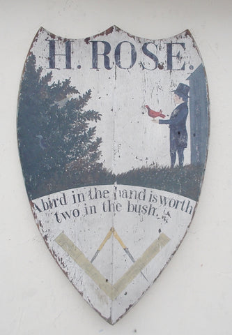 H. Rose tavern sign