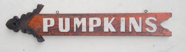 2-sided Pumpkins sign