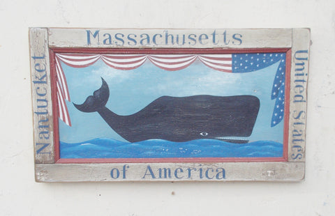 Nantucket Patriotic Whale