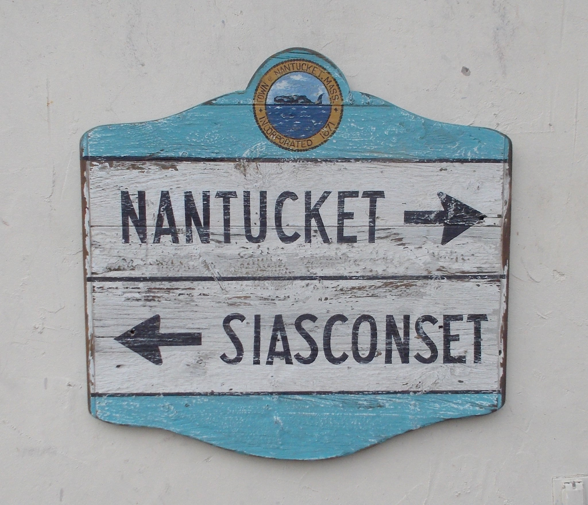 Nantucket Siasconset Directional sign
