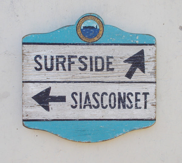 "18"" Surfside/ Siasconset Directional sign"