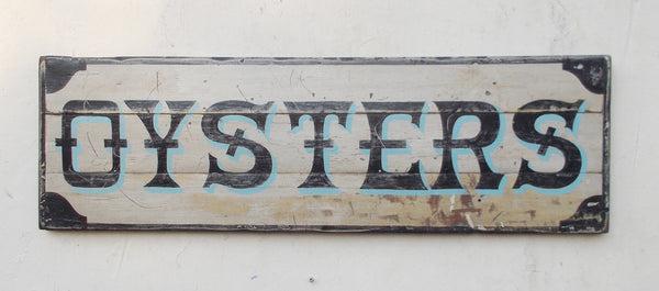 Oysters sign