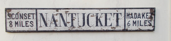 Nantucket Road Sign