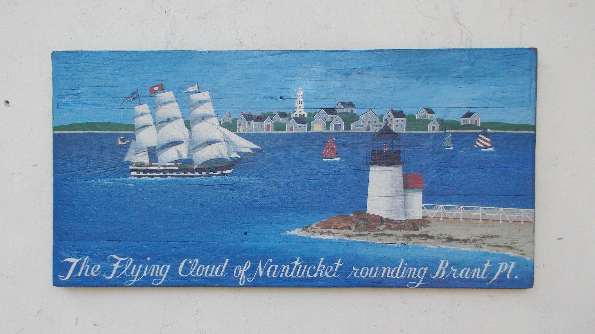The Flying Cloud of Nantucket Rounding Brant Point