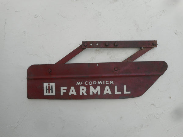 Antique Cultivator Shield with painted Farmall Logo