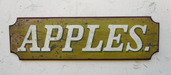 """Apples"" sign"