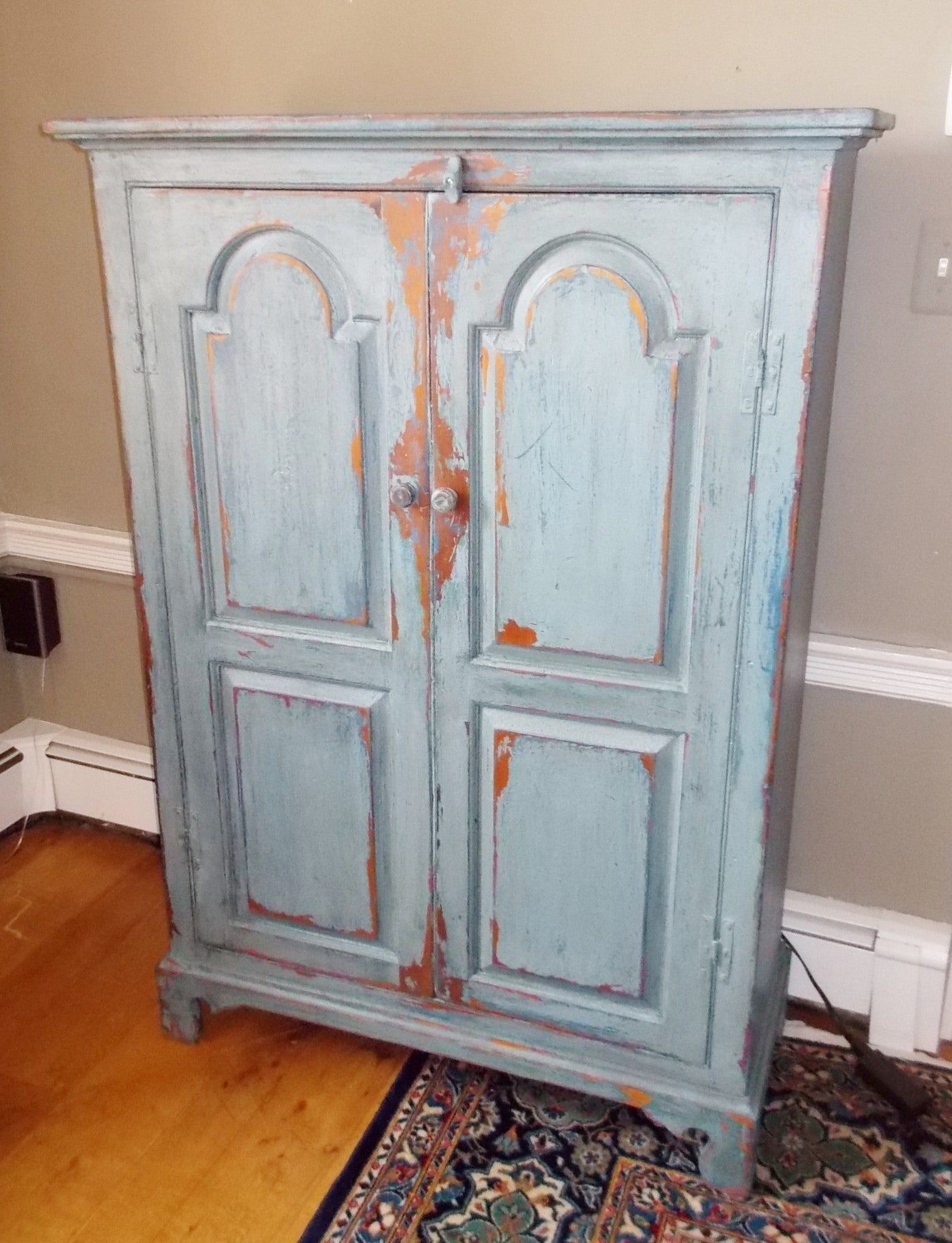 Arched Door Cupboard Blue