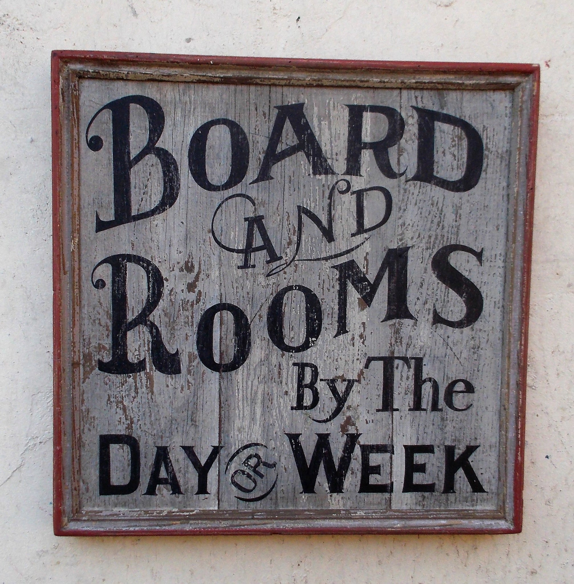 Board and Rooms sign