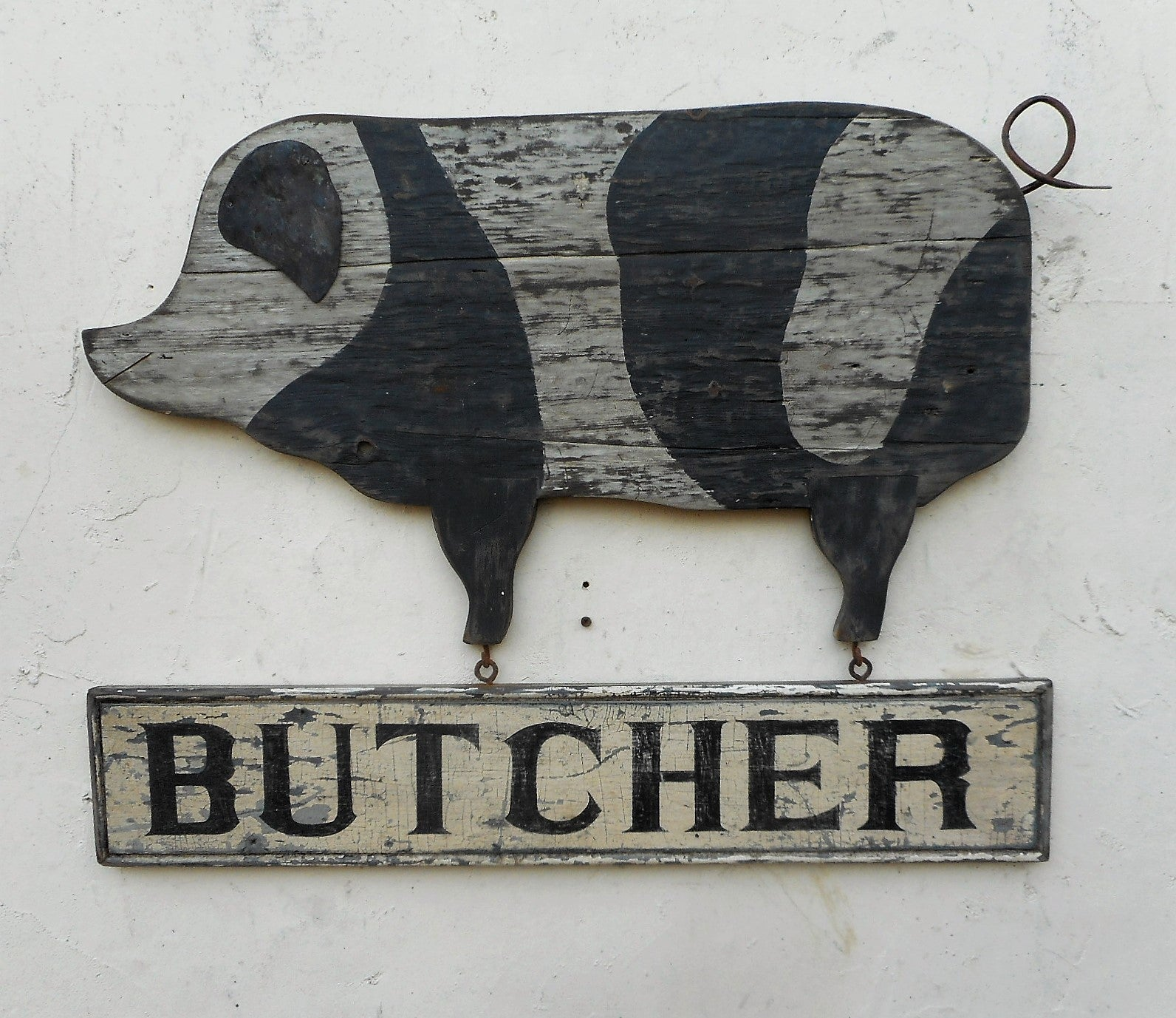 Butcher sign with pig