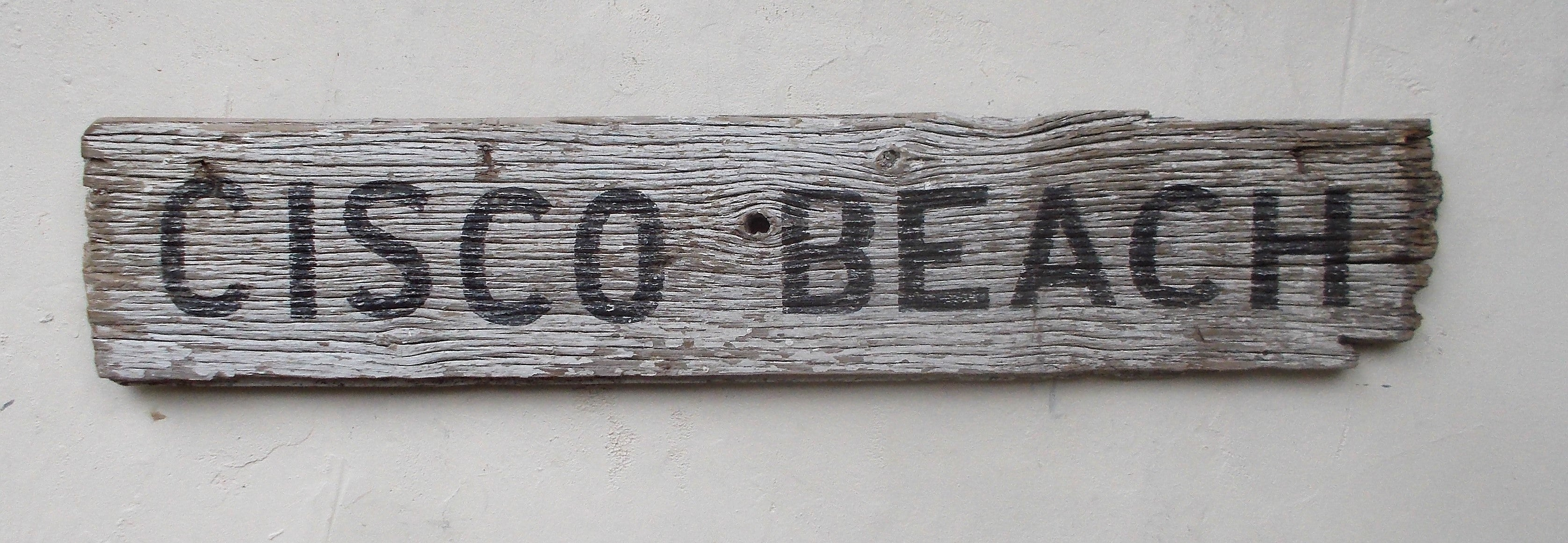 Cisco Beach sign