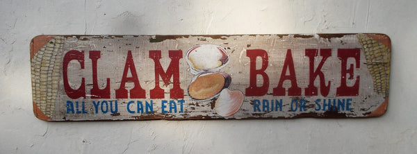 Clam Bake Sign